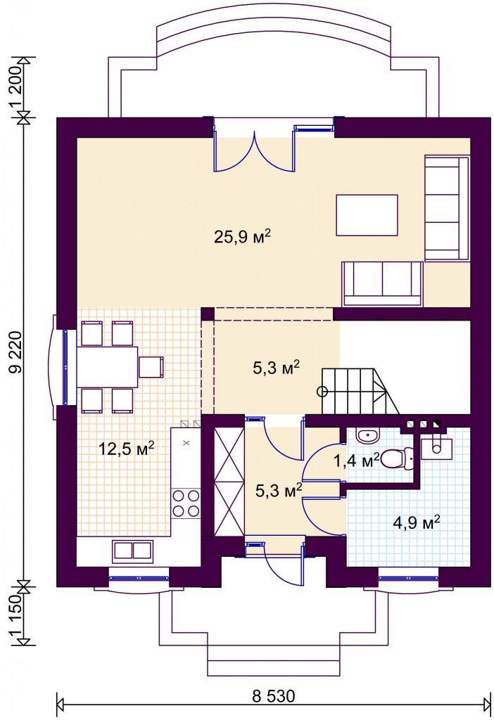 Загальна площа 112 4 м2