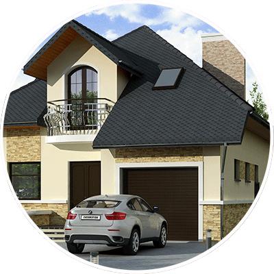 Красивий проект будинку з гаражем та