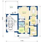 Проект будинку Сильвія план