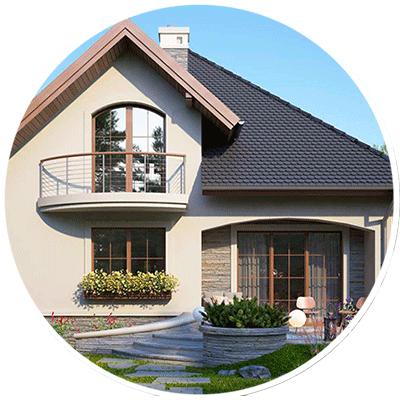 Красивий проект будинку з житловою мансардою та терасою 19007b6719e44