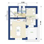 План першого поверху дачного будинку