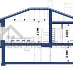 Розріз дачного будинку