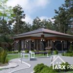 Проект дачного дома с сауной и цокольным этажом