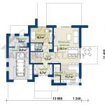 План першого поверху двоповерхового будинку