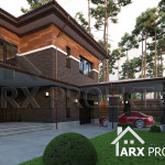 Проект двоповерхового будинку в стилі Райта