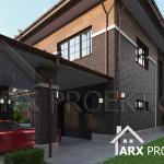 Проект двоповерхового будинку з гаражом в стилі Райта Робін