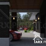 Проект двоповерхового будинку з гаражом в стилі Прерій