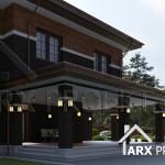 Проект стильного двухэтажного дома в стиле Прерий
