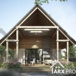 Проект дачного будинку з мансардою