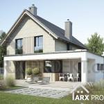 Проект двухэтажного дома 11х11