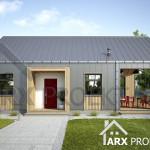 Проект одноэтажного дачного дома 50 м