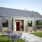 Проект одноповерхового дачного будинку з критою терасою