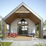 Проект одноэтажного дачного дома Джим