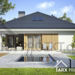 Проект одноповерхового будинку з гаражом