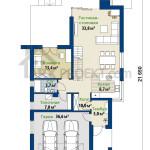 План первого этажа проекта дома Магнус