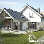 Проект дома с жилой мансардой и гаражом для двух авто