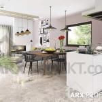 Интерьер гостиной столовой в проекте