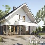 Проект будинку Марго з мансардою та гаражем для вузької ділянки