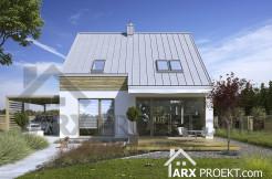 Проект дома 9х9 с мансардой и террасой Яна