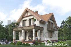 """Проект будинку з мансардою 6х12 м для вузької ділянки """"Єва"""""""