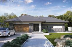 "Проект одноповерхового будинку з гаражем на два авто ""Лео"""