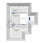План горища одноповерхового проекту будинку