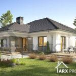 """Проект одноэтажного дома с гаражом для двух авто, вторым светом и террасой """"Виола"""""""