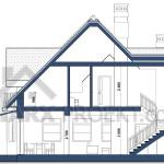 Розріз проекту будинку