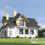 Проект дома с мансардой и гаражом Браун мини 2