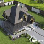 Проект будинку з мансардою і гаражом