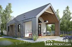 Проект одноповерхового дачного будинку