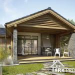 Проект невеликого одноповерхового будинку з критою терасою