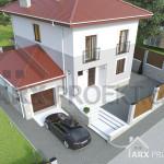 Проект двоповерхового будинку 12х12 з гаражом