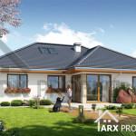 Проект одноэтажного дома с гаражом для двух авто Альпина 2