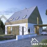 Проект будинку 9х9 з мансардою та терасою Яна