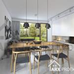 Інтер'єр їдальні-вітальні проекту будинку Яна