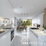 Інтер'єр кухні проекту будинку Яна з мансардою