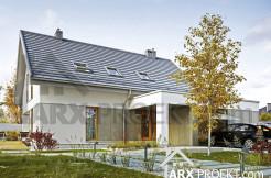 Проект будинку з мансардою та гаражем на два авто Жанна
