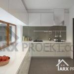 Интерьер кухни проекта одноэтажного дома