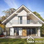 Красивый проект дома с гаражом и мансардой