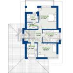 План второго этажа проекта дома Примус